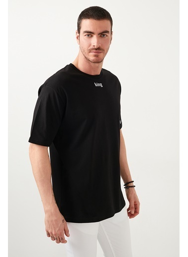Buratti Buratti Oversize Erkek T-Shirt 5721015 Siyah